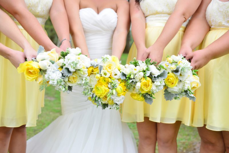 Beautiful bridesmaid's bouquets by Confetti Floral in Abbotsford