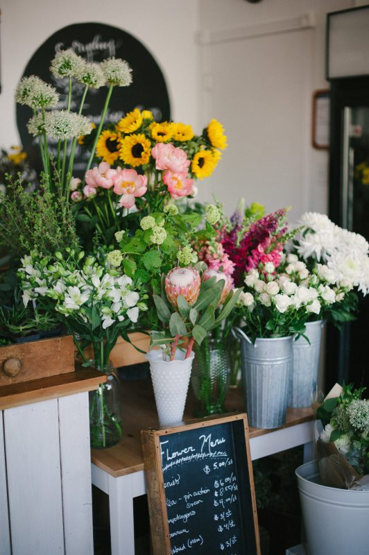Beautiful flowers for sale at the Confetti Floral store in Abbotsford