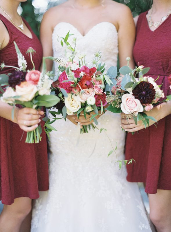 Three wedding bouquets by Confetti Floral in Abbotsford